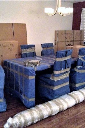 Hiring a professional moving company to pack for you!