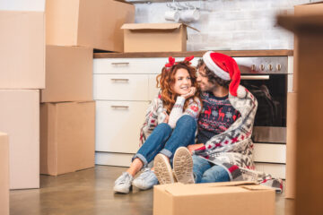 Moving during the holidays can be stressful.
